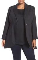 Melissa McCarthy Plus Size Women's Double Cloth Tuxedo Blazer
