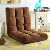 Supersoft Folding Adjustable Lounger Floor Game Chair Latitude Run Color: Brown