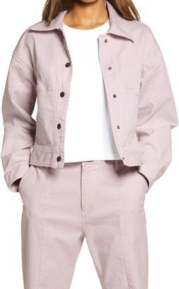 Melody Ehsani Stretch Cotton Twill Jacket