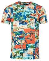 Polo Ralph Lauren Custom Slim Fit Printed T-shirt Colour: BLUE, Size: