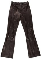Gucci Leather Wide-Leg Pants