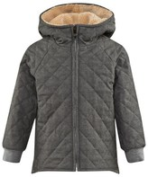 Il Gufo Grey Quilted Hooded Jacket