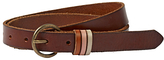 Fat Face Keeper Leather Belt, Chocolate