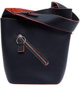 French Connection Orella Bucket Bag, Black/Festival Orange