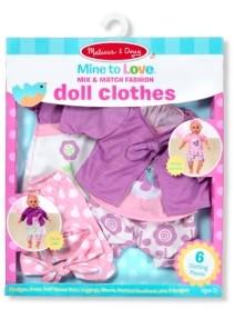 "Melissa & Doug Melissa Doug Mine to Love Mix Match Fashion Doll Clothes for 12""-18"" Dolls 6 pcs"