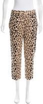 Tibi Leopard Print Cropped Pants