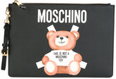 Moschino toy bear paper cut out clutch - women - Cotton/Leather/Polyurethane/PVC - One Size