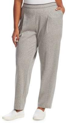 Lafayette 148 New York Lafayette 148 New York, Plus Size Cotton Ponti Jersey Soho Track Pants