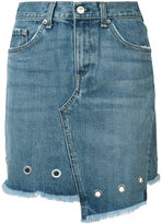 Rag & Bone Jean eyelet detail denim skirt
