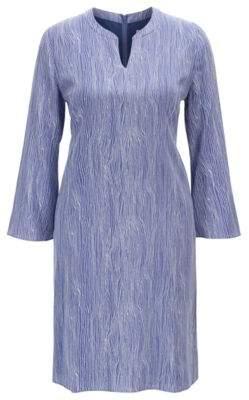 BOSS Regular-fit tunic dress in printed silk