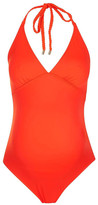 Topshop Solid Halter One-Piece Swimsuit (Maternity)