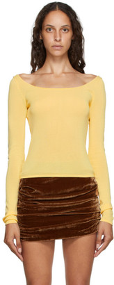Georgia Alice Yellow Knit Pearl Top