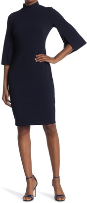 Calvin Klein Mock Neck Sheath Dress
