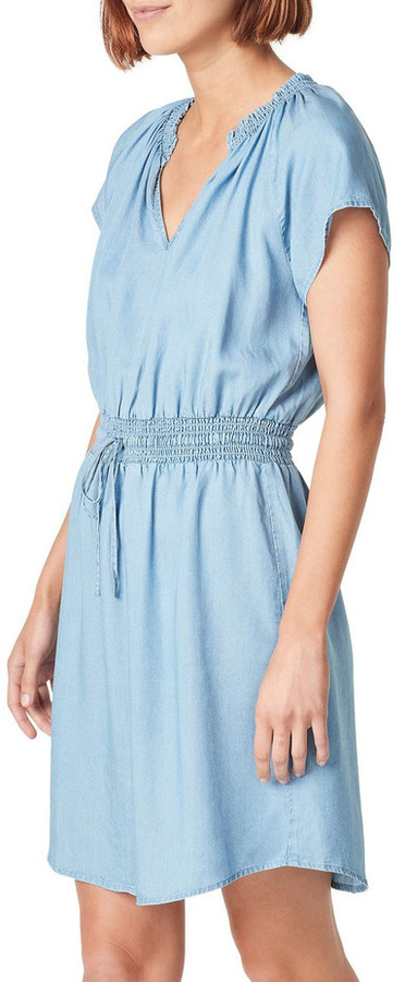 French Connection Short Sleeve Lyocell Mini Dress Lt