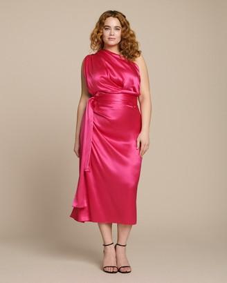 Dolce & Gabbana Off Shoulder Dress with Side Tie Detail