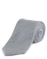 Jaeger Linen Silk Basketweave Tie
