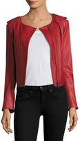 Joie Koali Quilted Pattern Leather Jacket