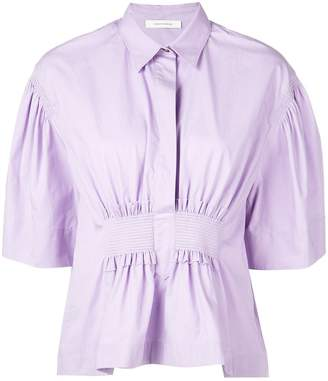 Cédric Charlier Collared Blouse With Ruched Front
