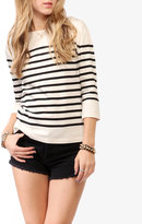 Forever 21 Classic Striped 3/4 Sleeve Top