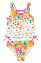 Hula Star 'Flower Shower' Two-Piece Swimsuit (Toddler Girls)