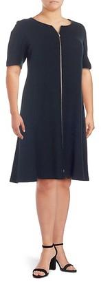 Lafayette 148 New York Plus Eden Wool Knee-Length Dress