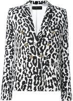 Alexandre Vauthier leopard print blazer - women - Polyester/Viscose/Wool - 38
