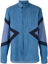 Neil Barrett symmetric triangular print shirt - men - Silk/Cotton/Polyester - 43