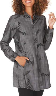 Foxcroft Cici Embroidered Tunic Shirt