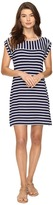 Tommy Bahama Breton Stripe Rolled-Sleeve Dress Cover-Up