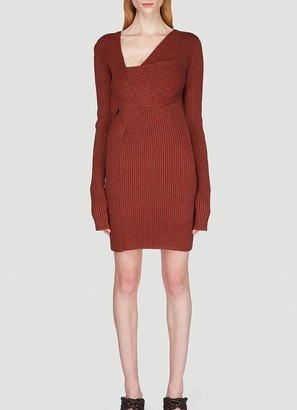 Bottega Veneta Asymmetric Knitted Dress