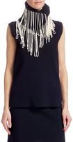 Calvin Klein Sleeveless Fringe-Knit Top