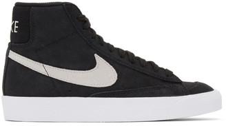Nike Black Suede Blazer Mid 77 Vintage Sneakers