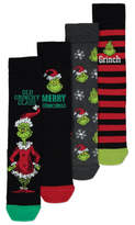 George Dr Seuss The Grinch Christmas Socks 4 Pack