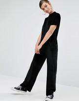 Daisy Street Relaxed Minimal Jumpsuit in Velvet