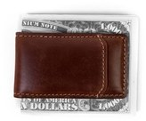 Boconi Men's 'Bryant' Leather Magnetic Money Clip - Brown