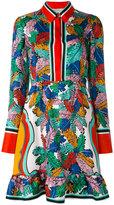 Emilio Pucci leaf print dress - women - Silk - 40