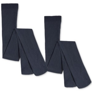 Trimfit 2-Pk. Opaque Footed Tights, Little Girls & Big Girls
