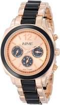 August Steiner Women's AS8062BKR Resin Swiss Quartz Multi-Function Bracelet Watch