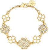 Liz Claiborne Crystal Clover Bracelet