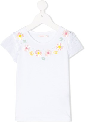 Billieblush sequin flower details T-shirt