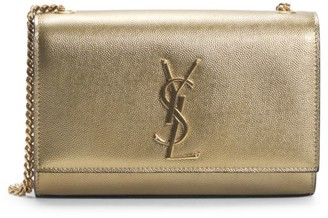 Saint Laurent Small Kate Metallic Leather Shoulder Bag