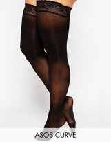 Asos 50 Denier Lace Top Hold Ups