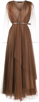Fabiana Filippi Sheer Layer Dress