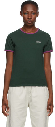 Stussy Green Contrast Binding T-Shirt