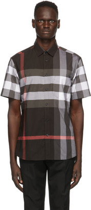 Burberry Grey Check Somerton Short Sleeve Shirt