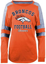 5th & Ocean Women's Denver Broncos Space Dye Long Sleeve T-Shirt