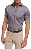 Peter Millar Petite Fleur Short-Sleeve Sport Shirt, Purple