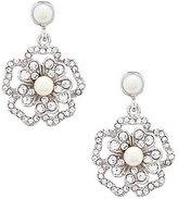 Carolee Grand Entrance Faux-Pearl Flower Double-Drop Statement Earrings