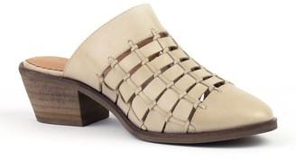 Crevo Luella Leather Block Heel Mule