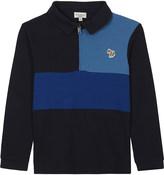 Paul Smith Pio zipped cotton-piqué polo top 4-16 years